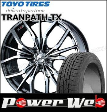 235/55R18 100Q WINTER TRANPATH TX/トーヨー ■LEONIS LV 18×8.0 114.3/5H +42 BMCミラーカット Weds スタッドレス&ホイール 1台分セット