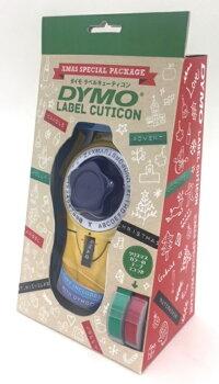 【限定商品】DYMOダイモラベルキューティコン(9ミリテープ用)イエロークリスマスパッケージメタリックカラーテープ(レッド、グリーン)付きDM20008CP