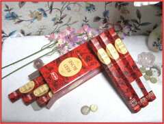 【まとめ買いがお得!】インドのお香♪HEM社製レッドローズ香1箱 6筒入り【インド香】【インセンス】【スティックタイプ】【Hexaパック6本入り】