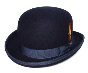 ニューヨークハット New York Hat 5007 Classic Derby クラシック ダービー Navy 帽子 フエルトハット ボーラーハット ダービーハット 大きいサイズ メンズ レディース 男女兼用 送料無料  あす楽