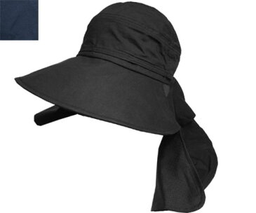 Milsa Le Mieux ミルサルミュー LM UV Mask Hat 186-372203 BLACK NAVY 黒 紺 UVケア 帽子 紫外線 対策 日よけ 折りたたみ レディース 女の子 小顔