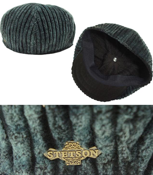 帽子 ステットソン STETSON SE144 ジャンボコール キャスケット 绀 コーデュロイ 日本制 高级 メンズ レディース