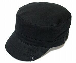 KANGOL(カンゴール) 帽子 ワークキャップ COTTON ADJUSTABLE ARMY CAP, Black