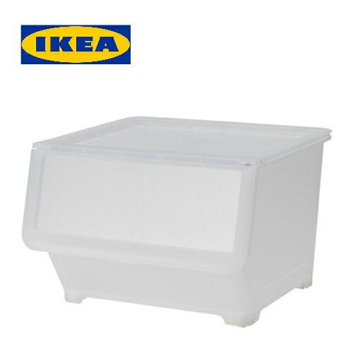 IKEA FIRRA ふた付きボックス 透明イケア ふた BOXサイズ:45x42x31 cm【smtb-ms】40339933