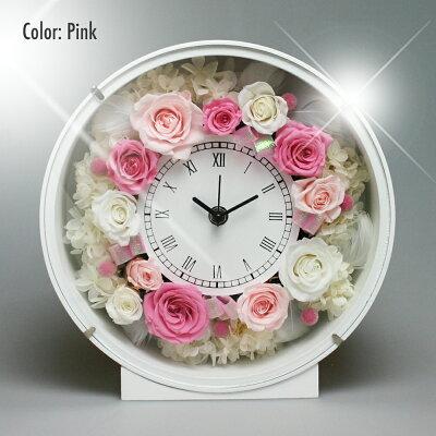 プリザーブドフラワーお花の時計PSYH-0120掛け時計置き時計母の日お祝い