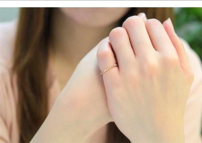 ポイント10倍指輪リングレディースゴールドピンキーリング1号から18号までお作りできますスタッズK1010金イエローゴールドピンクゴールドホワイトゴールドクールシンプル小指薬指華奢【prering_l】大きいサイズ