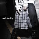 【minority】Plaid Skirt†スカート メンズ メンズスカート 巻きスカート チェック柄 ロングスカート モード系 ファッション ブランド ブラック ロック ROCK ロックファッション V系 おしゃれ 個性的 個性派 服 新作 Oz オズ