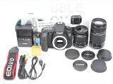 【あす楽】【中古】【1年保証】【新品級】CanonEOS60DダブルEF-S18-55mm/55-250mm