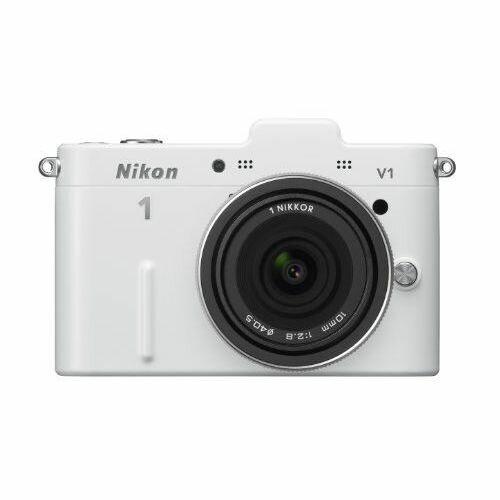 【中古】【1年保証】【美品】Nikon V1 薄型レンズキット ホワイト