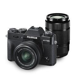 【中古】【1年保証】【美品】FUJIFILM X-T30 ダブルズームキット XC 15-45mm + XC 50-230mm II ブラック