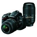 【中古】【1年保証】【美品】 Nikon D5100 Wズームキット 18-55mm 55-300mm VR