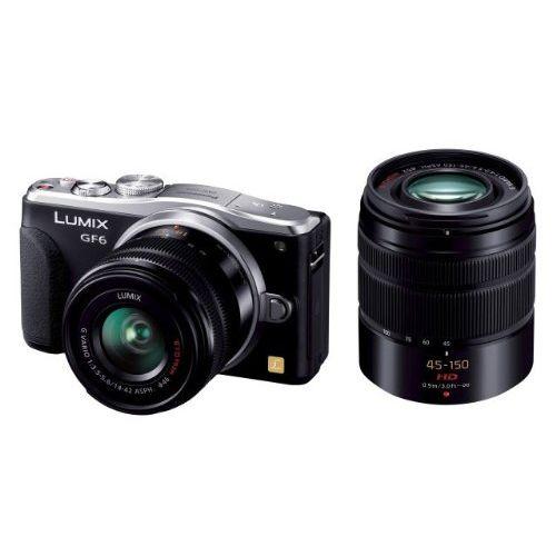 【中古】【1年保証】【美品】 Panasonic GF6 Wキット 標準・望遠 ブラック:プレミアカメラ