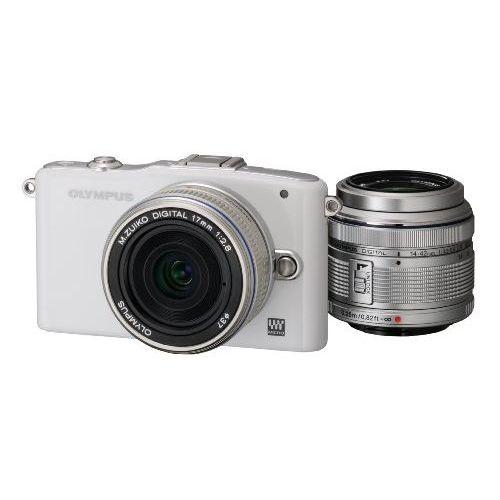 【中古】【1年保証】【美品】 OLYMPUS PEN mini E-PM1 ツインレンズ ホワイト:プレミアカメラ