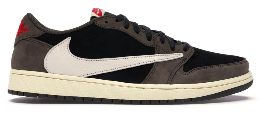 メンズ靴, スニーカー 1 OG SPJordan 1 Retro Low OG SP Travis ScottBLACKDARK MOCHA-UNIVERSITY RED