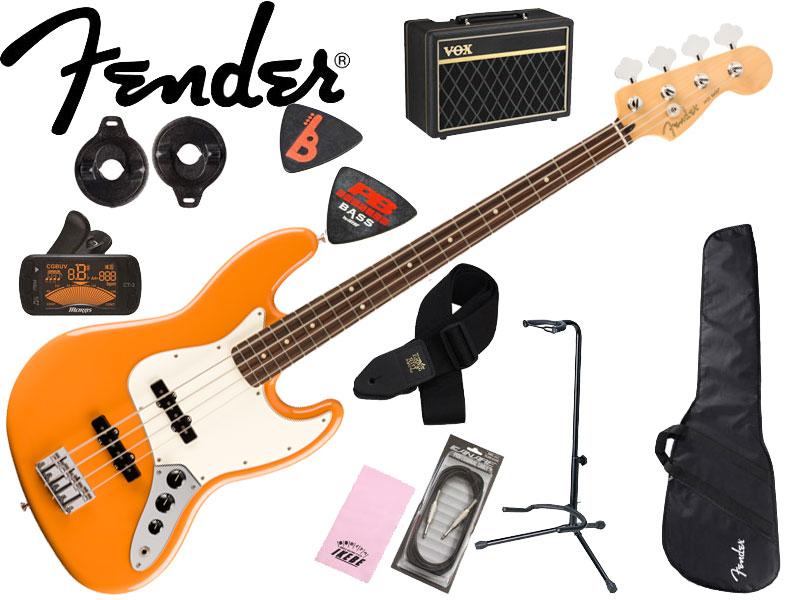セット, ベースセット  10Fender MEXPlayer Jazz Bass Bass (Capri OrangePau Ferro) Made In Mexico
