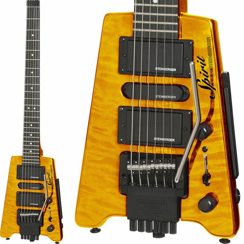 ギター, エレキギター STEINBERGER Spirit GT-PRO QUILT TOP DELUXE (TATrans Amber)