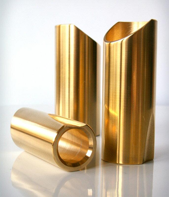 アクセサリー・パーツ, スライドバー THE ROCK SLIDE Polished Brass Guitar Slide (Gold) RSG-M