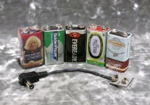 9V電池とバッテリープラグのお得なセット。Ikebe Original9V電池比較お試しセット【マンガン9V...
