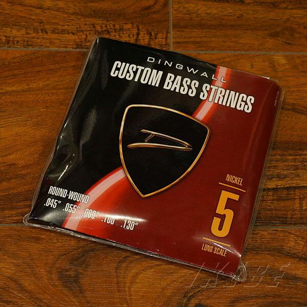 ベース用アクセサリー・パーツ, 弦 DINGWALL CUSTOM BASS STRINGS NICKEL 5ST SET ROUND-WOUND .045-.130PB