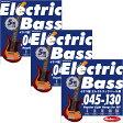 """Ikebe OriginalElectric Bass Strings """"イケベ弦 5弦エレキベース用 045-130"""" [Regular Light Gauge for 5ST/IKB-EBS-45130]×3セット 【お買い得セット販売】"""