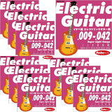 "Ikebe OriginalElectric Guitar Strings ""イケベ弦 エレキギター用 009-042"" [Super Light Gauge/IKB-EGS-0942]×10セット 【超お買い得セット販売】"