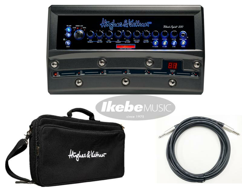 ギター用アクセサリー・パーツ, アンプ HughesKettnerBLACK SPIRIT 200 FLOOR HUK-BS200FBAG HUK-SPC7m Set