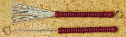 ドラム, スティック Ludwig L190 Red Lived Model Brush Loop End