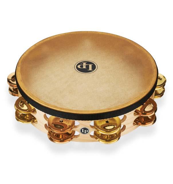 パーカッション・打楽器, タンバリン LP LP384-BB Pro Double Row Headed Tambourine 10 - BrassBronze Hybrid