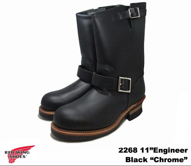 ブーツ, エンジニア 2 2268 RED WING 11Engineer Black Chrome