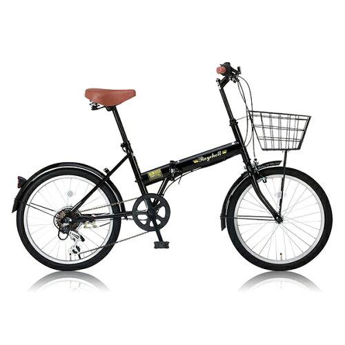 RaychellFB-206R-ブラック(24212)[折りたたみ自転車(20インチ・6段変速)]【同梱配送不可】【代引き不可】【沖縄・北海道・離島配送不可】