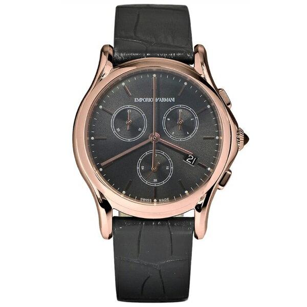 EMPORIO ARMANI エンポリオアルマーニ ARS6004 ブラック×ダークグレー [クォーツ腕時計(ユニセックス)]スイスメイド SWISS MADE:総合通販PREMOA