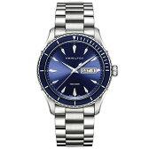 【送料無料】HAMILTON H37551141 ブルー/シルバー ジャズマスター シービュー デイデイト クォーツ [クォーツ腕時計(メンズ)]