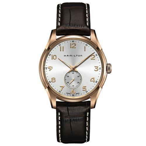 HAMILTONH38441553シルバー/ダークブラウンジャズマスターシンラインプチセコンドクォーツ[クォーツ腕時計(メンズ)]