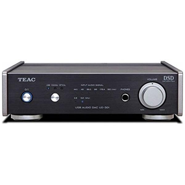 【送料無料】TEAC UD-301-SP/B ブラック [デュアルモノーラル USB DAC ハイレゾ音源対応] コンパクトサイズのデュアルモノーラル構成のD/A コンバーター。