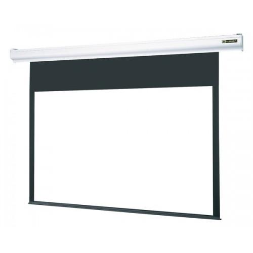 【送料無料】オーロラ NHE-100RW [電動スクリーン] スリムなホワイトケースで展開する新たなスタンダード!ワイヤレス・ワイヤードどちらでも使用できる2WAYスクリーン。