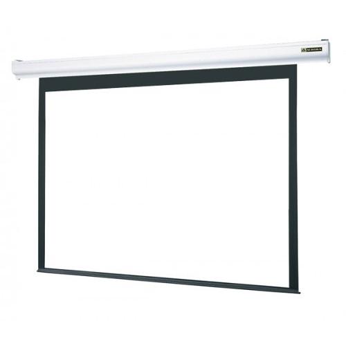 【送料無料】オーロラ NRE-100RW [電動スクリーン] スリムなホワイトケースで展開する新たなスタンダード!ワイヤレス・ワイヤードどちらでも使用できる2WAYスクリーン。