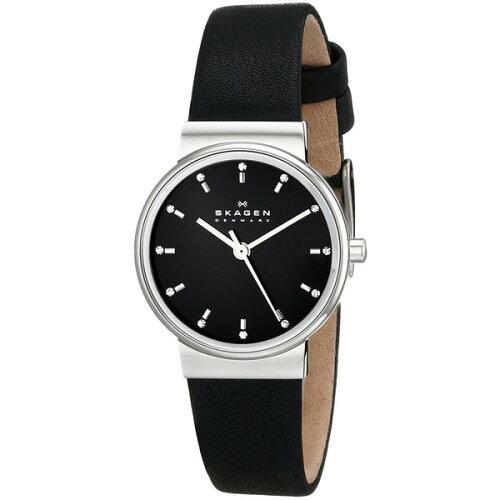 SKAGENSKW2193ブラックANCHER(アンカー)クロノグラフ[クォーツ腕時計(レディースウオッチ)]