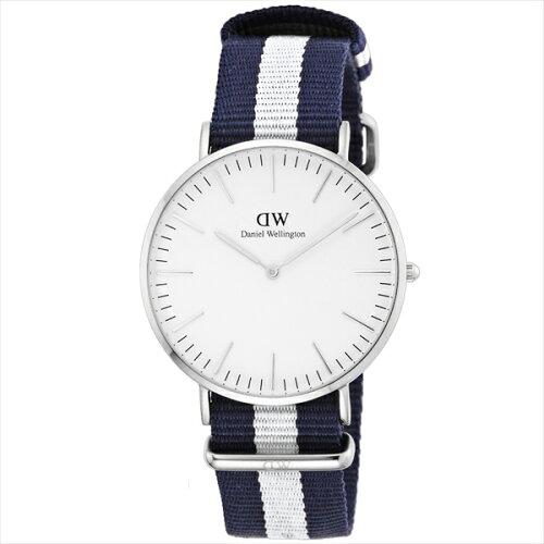 DanielWellington0204DWオフホワイト×ブルー/ホワイトクラシックグラスゴー[腕時計]