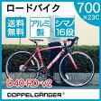 【送料無料】DOPPELGANGER D40-RD-v2 ブラック×レッド TARANIS [27インチ自転車]【同梱配送不可】【代引き不可】【沖縄・北海道・離島配送不可】