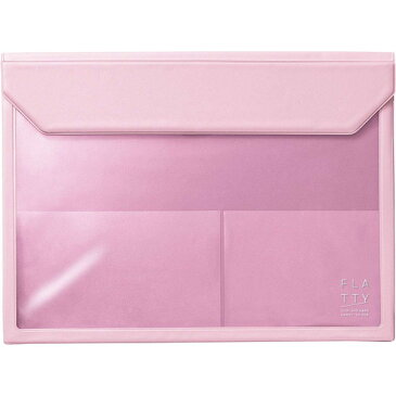 KING JIM 5366 ピンク FLATTY フラッティ A4サイズ [バッグインバッグ]
