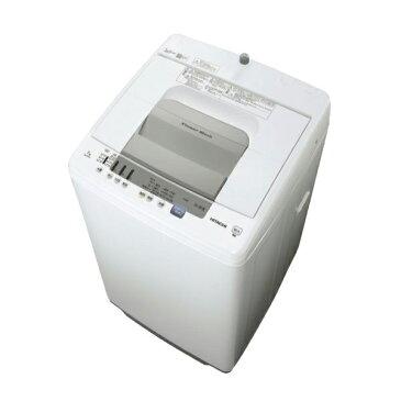 日立 洗濯機 白い約束 NW-R705 7kg 全自動洗濯機 シャワー浸透洗浄 風脱水 ほぐし脱水 ケース状糸くずフィルター 部屋干し 上開き 時間短縮