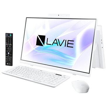NEC PC-HA770RAW ファインホワイト LAVIE Home All-in-one [デスクトップパソコン 23.8型 / Win 10 Home / ブルーレイドライブ / Office搭載]