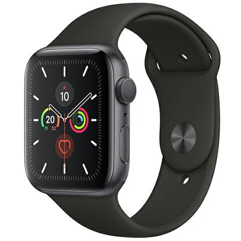 APPLE MWVF2J/A ブラックスポーツバンド Series 5 GPSモデル 44mm [Apple Watch]