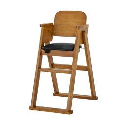 KATOJI 木製折りたたみハイチェア シンプル(ブラウン) 22010