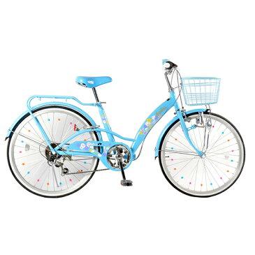 21Technology EM246 パステルブルー [子供用自転車(24インチ・6段変速)] メーカー直送