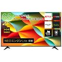 Hisense ハイセンス 65A6G 65V型 65型 65インチ 4Kテレビ