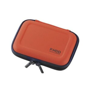 ELECOM HDC-SH001DR ポータブルHDDケース セミハード Sサイズ オレンジ