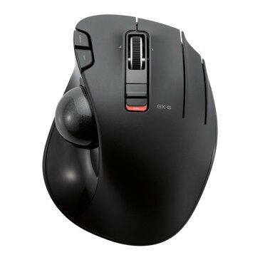 エレコム トラックボールマウス ワイヤレス 6ボタン 親指 2.4GHz 無線 34mm 玉 チルトホイール 横スクロール 減速ボタン OMRON社製スイッチ ブラック(黒) M-XT3DRBK メーカー直送