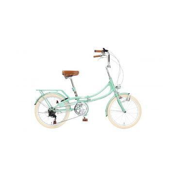 【送料無料】TOP ONE FLM206-76-GGR グレイッシュグリーン Classical [折りたたみ自転車(20インチ・6段変速)]【同梱配送不可】【代引き不可】【沖縄・北海道・離島配送不可】
