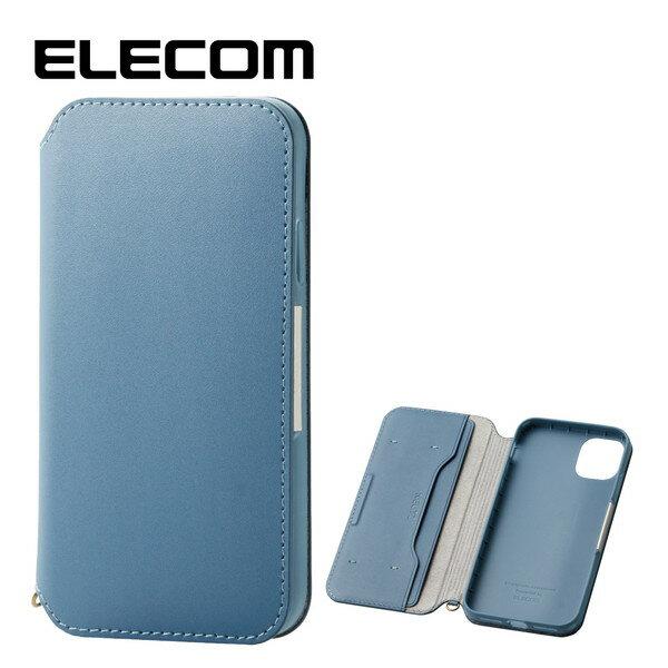 スマートフォン・携帯電話アクセサリー, ケース・カバー ELECOM PM-A19CPLFY2BU iPhone 6.1